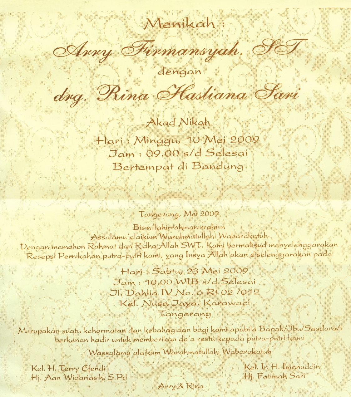 undangan syukuran